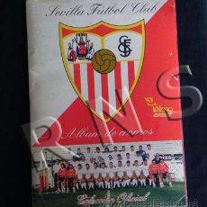 Álbum de fútbol completo: ÁLBUM DE CROMOS COMPLETO SEVILLA FC FÚTBOL CLUB HISTORIA 350 CROMO MILANO DEPORTE VER DESCR NO LIBRO. Lote 26925032