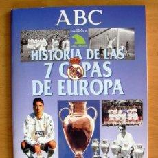 Álbum de fútbol completo: REAL MADRID - HISTORIA DE LAS 7 COPAS DE EUROPA - PERIÓDICO ABC 1998 - COMPLETO. Lote 25356371