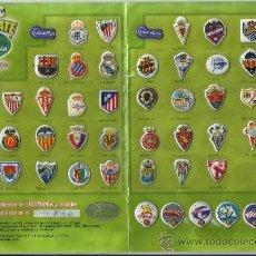 Álbum de fútbol completo: LIGA MANIA DE GREFUSA 2008 LIGAMANIA. ESCUDOS Y LOGOS. COMPLETA O SUELTOS. . Lote 26490700