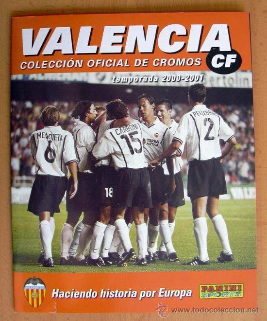 VALENCIA 2000-2001 COLECCIÓN OFICIAL DE CROMOS - EDIT. PANINI - ÁLBUM COMPLETO (Coleccionismo Deportivo - Álbumes y Cromos de Deportes - Álbumes de Fútbol Completos)