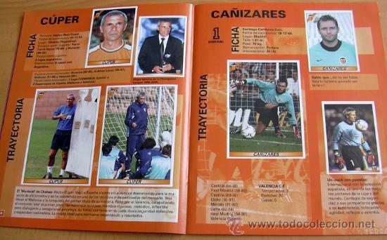 Álbum de fútbol completo: VALENCIA 2000-2001 COLECCIÓN OFICIAL DE CROMOS - EDIT. PANINI - ÁLBUM COMPLETO - Foto 2 - 26842889