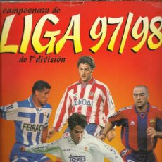 Álbum de fútbol completo: ALBUM DEL CAMPEONATO DE LIGA DE 1ª DIVISION 97/98 CON 239 CROMOS. Lote 26987965
