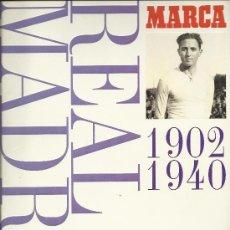 Álbum de fútbol completo: LOS 3 ALBUMES DEL REAL MADRID MUSEO BLANCO 1902 A 1999 MARCA VER FOTOS. Lote 27318231