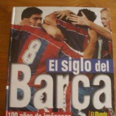 Álbum de fútbol completo: EL SIGLO DEL BARÇA 100 AÑOS DE IMAGENES. MUNDO DEPORTIVO. 1997 132 PAG. Lote 27371170