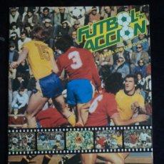 Álbum de fútbol completo: FUTBOL EN ACCION. FAMOSA SERIE TV .DANONE 92. FALTAN 8 CROMOS (92 CROMOS ALBUM). Lote 28672242