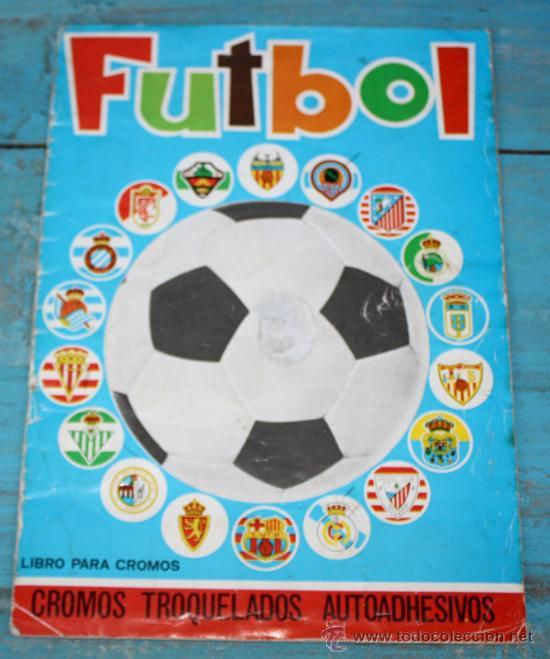 ANTIGUO Y MAGNIFICO ALBUM DE FUTBOL - AÑO 1975 - COMPLETO - CROMOS TROQUELADOS AUTOADHESIVOS - EDITO (Coleccionismo Deportivo - Álbumes y Cromos de Deportes - Álbumes de Fútbol Completos)