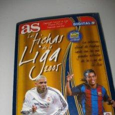 Álbum de fútbol completo: ALBUM LAS FICHAS DE LA LIGA 2004 2005 DE AS... Lote 27936297