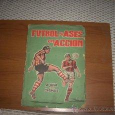 Álbum de fútbol completo: ALBUM FUTBOL Y ASES EN ACCION DE EDITORIAL TRIUNFO,IMPOSIBLE DE CONSEGUIR. Lote 28424534