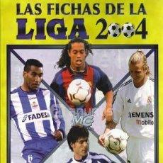 Álbum de fútbol completo: ALBUM COMPLETO FICHAS DE LA LIGA 2004. Lote 28430899