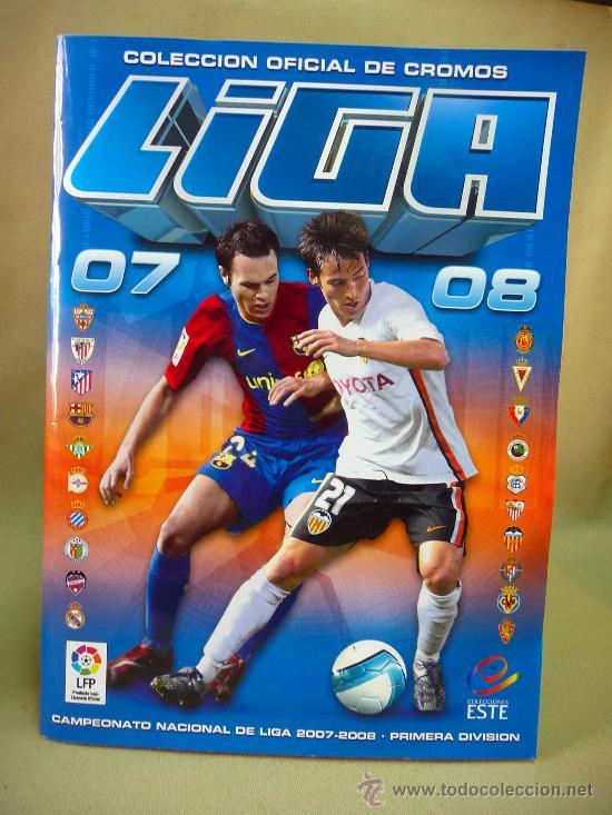 ALBUM DE CROMOS, FUTBOL, LIGA 07 - 08, 2007 - 2008, ESTE, COMPLETO (Coleccionismo Deportivo - Álbumes y Cromos de Deportes - Álbumes de Fútbol Completos)