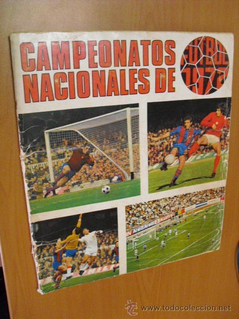 ALBUM CAMPEONATOS NACIONALES RUIZ ROMERO 1971/72 COMPLETO CON LOS 16 DOBLES (Coleccionismo Deportivo - Álbumes y Cromos de Deportes - Álbumes de Fútbol Completos)