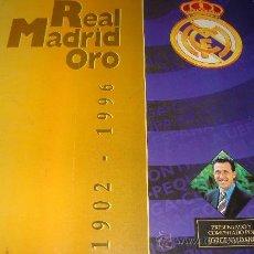 Álbum de fútbol completo: ÁLBUM DE CROMOS DE FÚTBOL REAL MADRID 1902 - 1996. REAL MADRID ORO. JORGE VALDANO MUY COMPLETO . Lote 28723806