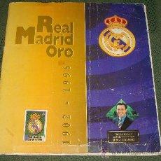 Álbum de fútbol completo: ÁLBUM DE CROMOS DE FÚTBOL REAL MADRID 1902 - 1996. REAL MADRID ORO. JORGE VALDANO. 64 CROMOS.. Lote 28723851