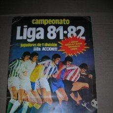 Álbum de fútbol completo: ALBUM CAMPEONATO LIGA 81 / 82 , EDC ESTE 1981, FALTAN 14 CROMOS, HAY COLOCAS, FICHAJES ETC. Lote 28777177