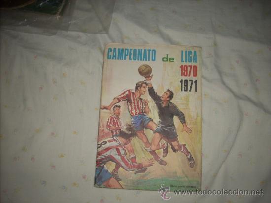 ALBUM DE LA LIGA 1970-71 DE FHER COMPLETO, (Coleccionismo Deportivo - Álbumes y Cromos de Deportes - Álbumes de Fútbol Completos)