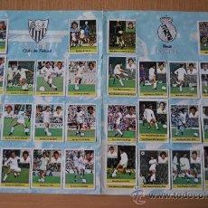 Álbum de fútbol completo: 4 PÁGINAS COMPLETAS DEL ÁLBUM DE LA LIGA 81/82 SEVILLA, REAL MADRID, OSASUNA Y RACING DE SANTANDER. Lote 30071877