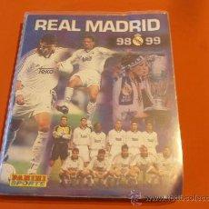 Álbum de fútbol completo: ALBUM REAL MADRID 98, 99 , PANINI SPORTS, FALTA UN CROMO. Lote 30246272