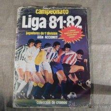 Álbum de fútbol completo: ALBUM DE CROMOS FUTBOL, CAMPEONATO DE LIGA 81-82, EDICIONES ESTE. FALTAN 17 CROMOS FÁCILES. Lote 30365587