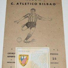 Álbum de fútbol completo: ANTIGO ALBUM DE LA EDITORIAL VALENCIANA, ALBUM FUTBOL DE ATLETICO BILBAO, ATHLETIC BILBAO, ALBUM COM. Lote 30414664