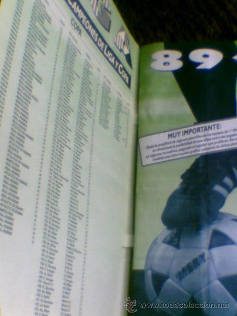 Álbum de fútbol completo: Album cromos completo Este Futbol Liga 89-90 incluido cromo BUSTINGORRI fichaje 11 - Foto 11 - 30617257