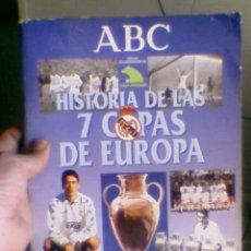 Álbum de fútbol completo: ALBUM CROMO COMPLETO HISTORIA DE LAS 7 COPAS EUROPA REAL MADRID. Lote 30710437
