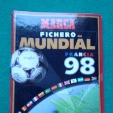 Álbum de fútbol completo: ALBUM DE MARCA LA HISTORIA DEL MUNDIAL DESDE 1930 AL 1998. Lote 176018577