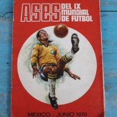 Álbum de fútbol completo: ANTIGUO ALBUM DE CROMOS - ASES DEL MUNDIAL DE MEXICO 1970 - COMPLETO - EDITORIAL FHER - DISGRA - 2. Lote 32875051