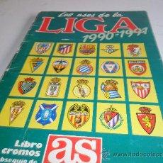 Álbum de fútbol completo: ALBUM LOS ASES DE LA LIGA DE AS COMPLETO 1990-1991 90-91. Lote 32925244