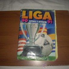 Álbum de fútbol completo: ALBUM DE LA LIGA 1990-91 DE ESTE COMPLETO,,POR COMPRA SUPERIOR A 1000 EU,REGALO 200,APROVECHA. Lote 33116919