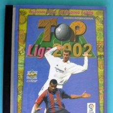 Álbum de fútbol completo: FICHERO MUNDICROMO TOP LIGA 2001-2002, 01-02 - COMPLETA, 198 FICHAS, VER DENTRO. Lote 33632433