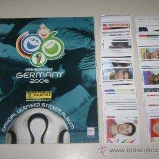 Álbum de fútbol completo: ALBUM COPA MUNDIAL ALEMANIA 2006 PANINI + STICKERS A PEGAR - 100% COMPLETO. Lote 56729773
