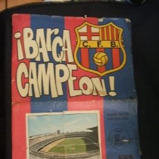 Álbum de fútbol completo: BARÇA CAMPEON - ALBUM - POSTER - EDICIONES KEISA - COMPLETO 40 CROMOS - . Lote 35009760