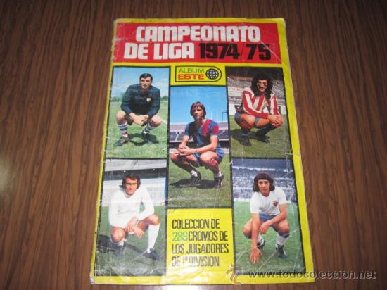 ALBUM LIGA ESTE DE FUTBOL TEMPORADA 74-75 LOS 288 CROMOS (Coleccionismo Deportivo - Álbumes y Cromos de Deportes - Álbumes de Fútbol Completos)