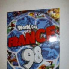 Álbum de fútbol completo: ALBUM COMPLETO WORLD CUP FRANCE 98 MUNCIAL FRANCIA 98 EDITORIAL DS - FX. Lote 173943920