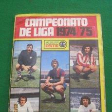 Álbum de fútbol completo: CAMPEONATO DE LIGA 1974/75-ALBUM ESTE. Lote 35935269