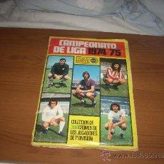 Álbum de fútbol completo: ALBUM DE LA LIGA 1974-75 DE ESTE COMPLETO Y CON 17 COLOCAS. Lote 36267483