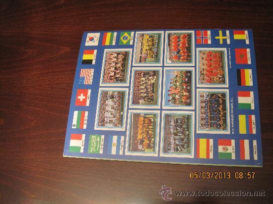 Álbum de fútbol completo: Campeonato Mundial de Futbol-USA 94- Ediciones Estadio - Foto 8 - 36281166