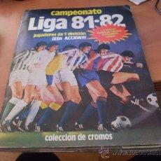 Álbum de fútbol completo: LIGA 81 - 82 . COMPLETO CON CASI TODOS LOS COLOCAS 371 CROMOS PEGADOS POR ARRIBA (AB-1)). Lote 36419920