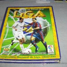 Álbum de fútbol completo: FICHAS DE LA LIGA 1998 1999 98 99 COMPLETO 550 FICHAS. MUNDI CROMO SPORT.. Lote 36569571
