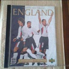 Álbum de fútbol completo: ALBUM UPPER DECK COMPANY ENGLAND - WORLD CUP FRANCIA 98 -. Lote 36605726