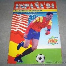 Álbum de fútbol completo: ESPAÑA 94 EL ARCHIVO DE LA SELECCIÓN COMPLETO. MUNDI CROMO.. Lote 36690598