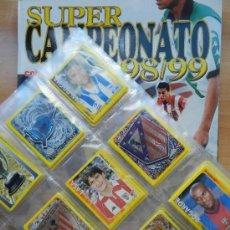 Álbum de fútbol completo: COLECCION COMPLETA PANINI SUPER CAMPEONATO LIGA 98/99 ALBUM VACIO + TODOS CROMOS SIN PEGAR 1999 . Lote 37523947