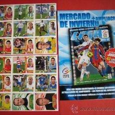 Álbum de fútbol completo: ESTE 11/12 MERCADO DE INVIERNO, HOJAS Y 1º ENTREGA (18 CROMOS) 2011/2012. Lote 37435203