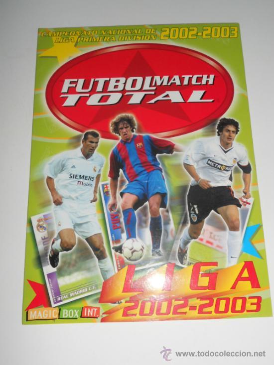 IMPOSIBLE ALBUM CARPETA VACIO COLECCION CROMOS FUTBOL MATCH TOTAL MAGIC BOX INT 02 03 2002 2003 (Coleccionismo Deportivo - Álbumes y Cromos de Deportes - Álbumes de Fútbol Completos)