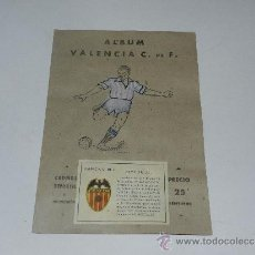 Álbum de fútbol completo: ALBUM VALENCIA CF - COMPLETO !!! EDT VALENCIANA 1941 - PORTADA PINTADA. Lote 37604456