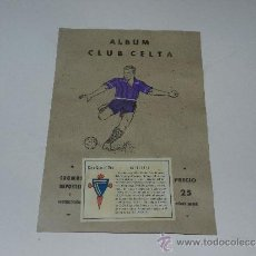 Álbum de fútbol completo: ALBUM CLUB CELTA - COMPLETO !!! EDT VALENCIANA 1941 - PORTADA PINTADA. Lote 37604496