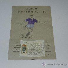 Álbum de fútbol completo: ALBUM OVIEDO CF - COMPLETO !!! EDT VALENCIANA 1941 - PORTADA PINTADA. Lote 37604621