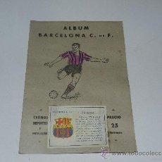 Álbum de fútbol completo: ALBUM FC BARCELONA - COMPLETO !!! EDT VALENCIANA 1941 - PORTADA PINTADA. Lote 37604640