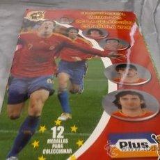 Álbum de fútbol completo: SUPERMERCADO PLUS - MEDALLAS DE LA SELECCIÓN ESPAÑOLA MUNDIAL 2006 (COMPLETO ) TAZOS / POGS . Lote 37762334