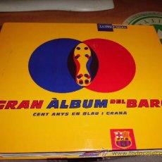 Álbum de fútbol completo: EL GRAN ALBUM DEL BARÇA COMPLETO AÑO 1999 150PGS FICHAS COLECCIONABLES. Lote 37959640